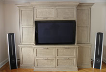 Entertainment Center - Quality Finishing Custom Cabinetry Services