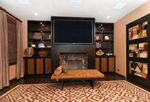 Living Room - Quality Finishing Custom Cabinetry Services